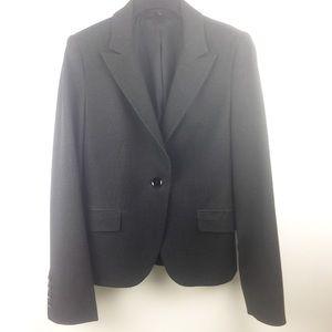 Express Notched Collar One Button Blazer